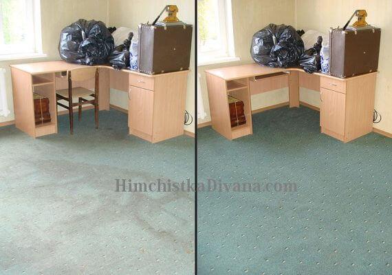 чистка ковровых покрытий в офисе